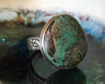 Bisbee Turquoise Ring, Turquoise Ring, Statement Ring, Woman's Ring, Arizona Turquoise