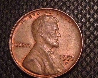 1955 D Lincoln Wheat Cent - EF