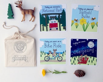 Adventure Milestone Cards |  Baby Milestone Cards | Kids Gift Idea | Baby Shower Gift | Flatlay Cards | Baby Photo Props | 18 Card Set