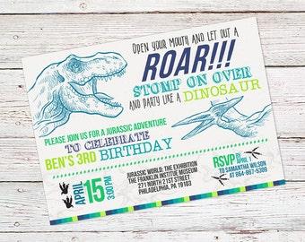 Dinosaur Birthday Invite - Dinosaur Birthday Invitation - Dinosaur Invitation - Printable Invitations - Dino Invites - Birthday Invitations