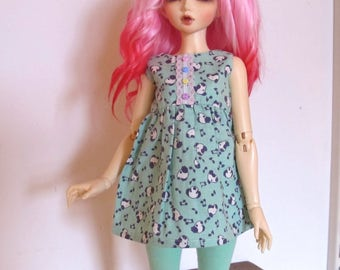 OOAK MSD Dress set Outfit, Dress and tights.