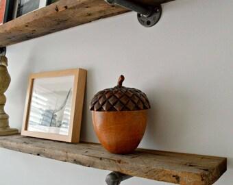 Single Reclaimed Barn Wood Floating Shelf - Reclaimed Wood Frome Barn