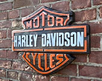 H-D vintage wood sign cm 55 x 42