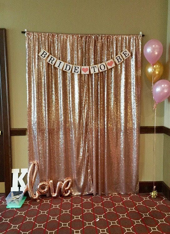 Rose Gold Photo Backdrop Sequin Wedding Booth Curtain SALE White Champagne