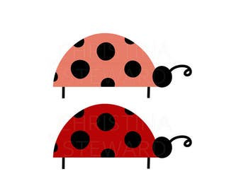 Ladybug Clip Art, Cute Clipart, Spring and Summer Clip Art, Instant Download, Digital Download, Commercial Use, Digital Graphics