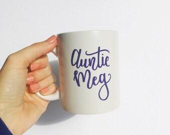 Auntie-to-be Coffee Mug - Custom mug, Aunt mug, coffee mug