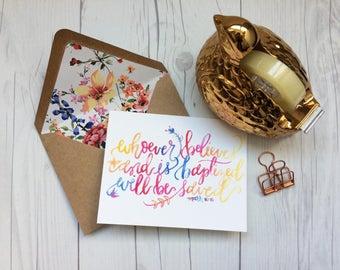 Mark 16:16  | Baptism | Christian Greeting Card