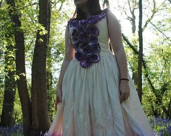 A Romantic reinvented vintage, fairy, woodland,alternative wedding dress.