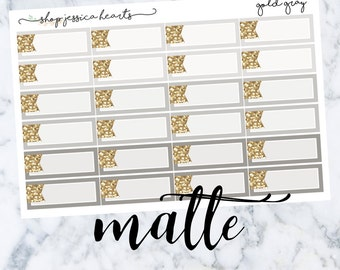 Gray Gold (MATTE) Glitter Appt Boxes