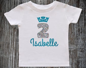 2nd Birthday Outfit Girl, Baby Girl 2nd Birthday Shirt, Frozen birthday outfit, Personalized Birthday Birthday Princess, Birthday outfit 2