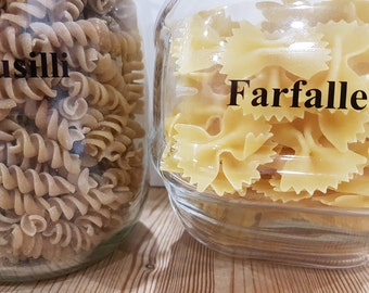 Pantry Labels x 15. Jar Labels. Pasta Labels. Food Container Labels. Removable Repostionable Labels. FREE UK Shipping