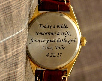 Custom engraving, personalizing watch in my shop