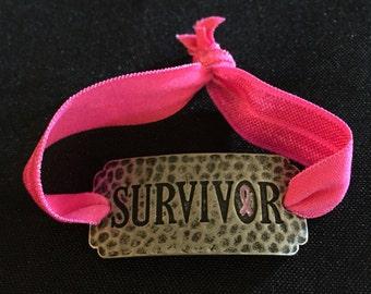 Survivor Burnished Silver Bracelet