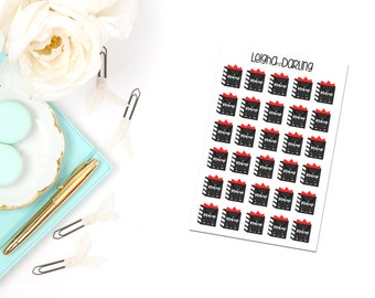 Kawaii Makeup Bag Planner Stickers