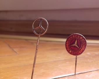 2 Vintage Mercedes Pins