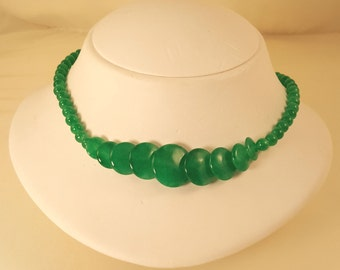 Imperial Green Jade Necklace