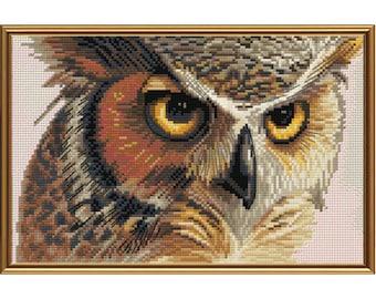 Cross Stitch Kit Eagle-owl