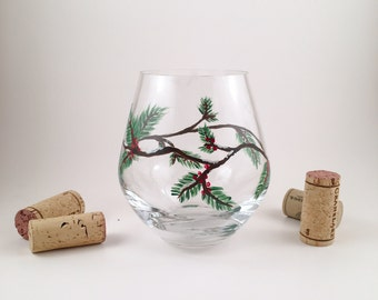 Winter Berry Wine Glasses
