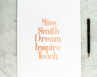 Personalised Teacher's Notebook