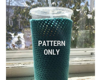 Large Crochet Coffee Cozy PATTERN