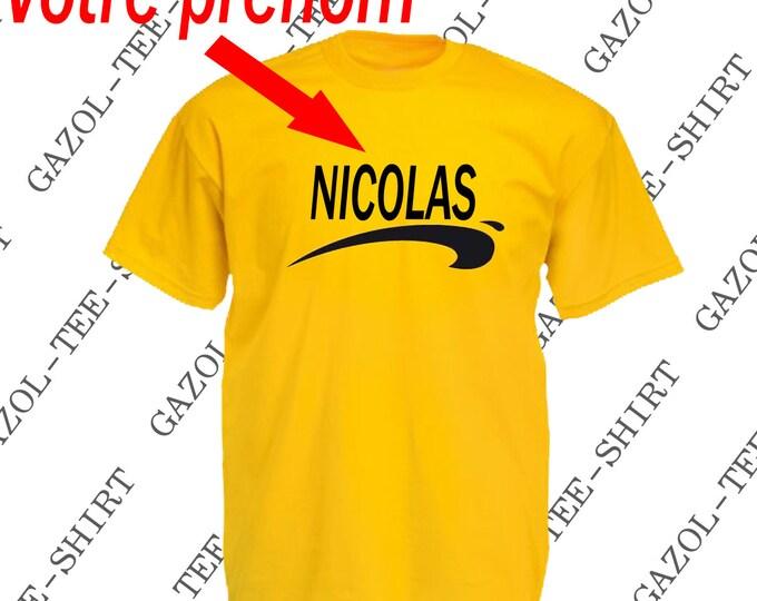 T-shirt personnalisable Brice de Nice. Idée cadeau tee-shirt personnalisé homme ou femme.