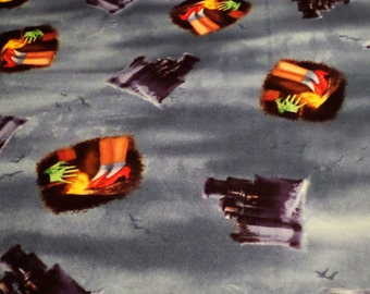 Wizard of Oz Fabric,  Sold by the half yard, Wicked witch fabric.