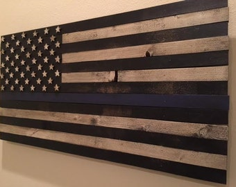 "Free Shipping! 32""x16"" Distressed American Flag"