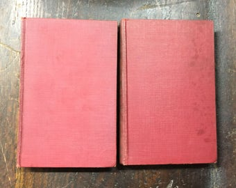 1929 2 Book Set | Pocket Library of the World's Essential Knowledge | Outline of Philosophy Part 1 and 2 | Great Deal