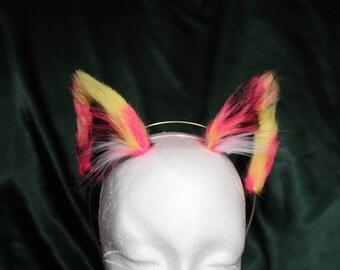 Neko Ears, magic firebird Kawaii, Neko, Luxury Faux Fur, cosplay, anime, fur play.