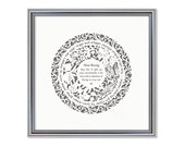 Home Blessing Papercut (English & Hebrew) gray backgraund