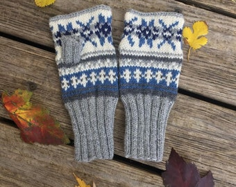 Fingerless Wool Mitts