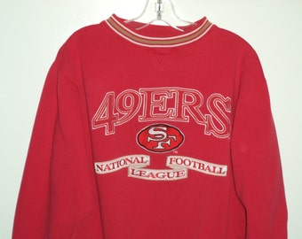 80's San Francisco 49ers football national sport SF sweatshirt// Vintage LA logo athletic// Women's size S M medium