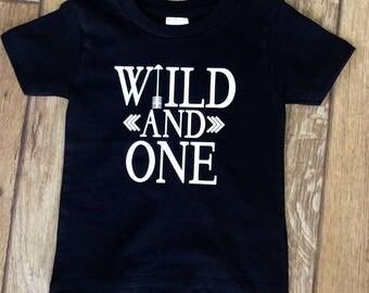 1st Birthday Shirt, First Birthday Shirt, Wild And One Birthday Shirt, Boys Birthday Shirt, Girls Birthday Shirt