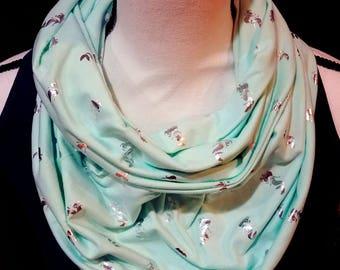Mermaid infinity scarf - small
