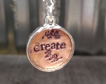 Create Word Pendant - Word of the Year Necklace