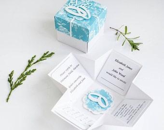 Pop Up Wedding Invitations - Unique Invitations - Elegant Wedding Invitations - Wedding Invitations - Wedding Invites - Box Invitation