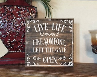 Live Life Wood Sign - Farmhouse Wood Sign - Personalized Wood Sign.