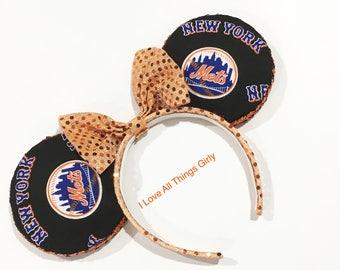 NY Mets Minnie Mouse Ears Headbands, NY METS, Disney, Disney World, Disney Land,
