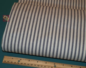 2 Yards Utility Fabric Pillow Ticking Blue NEW