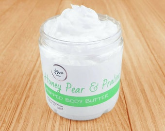 Natural Whipped Body Butter - Whipped Body Butter - Whipped Coconut Butter- Whipped Honey Body Butter
