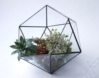 Geometric terrarium/terrarium Icosahedron/terrarium/glass planter/glass florarium/hanging terrarium/terrarium geometric/succulent planter