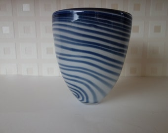 James Carcass Art Glass abstract vase