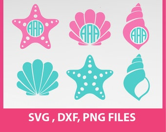 Starfish svg, sea star svg, sea shells SVG, DXF, PNG Formats 0029