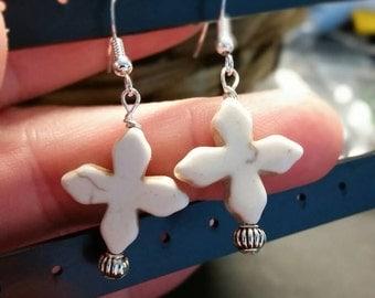 Ceramic cross earings