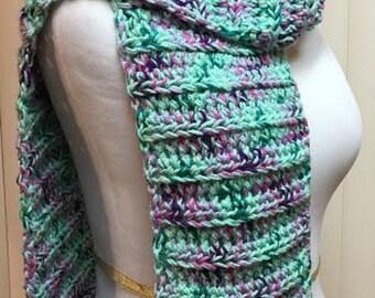 Green Scarf, Crochet Scarf, Green Scarf Crochet, Green Chunky Scarf, Green Crochet Scarf, Crocheted Scarf, Green Knit Scarf, Winter Scarf