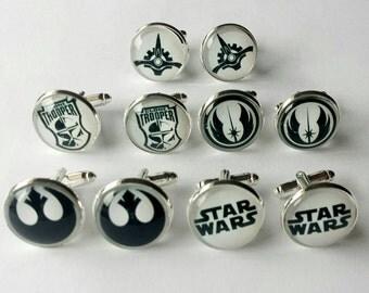 Star Wars Cufflinks - Made to Order - Storm Trooper, Jedi Order, Galactic Senate, Rebel Alliance.