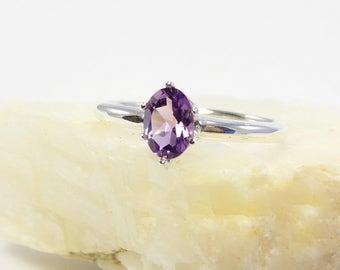 Amethyst ring, amethyst ring sterling silver, genuine amethyst ring ring amethyst, ring size 3 4 5 6 7 8 9 10 11 12 13