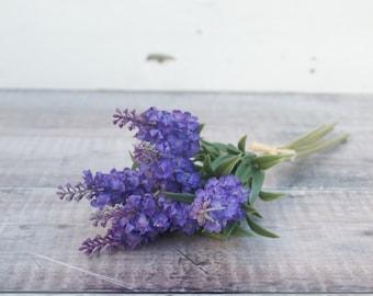 Lavender - Faux Bouquet - Silk Lavender - Lavender Bouquet - Everlasting Lavender - Artificial Lavender - Mothers Day Gift Under 15 - Bunch