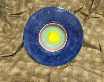 Wide Rimmed Rainbow Bowl