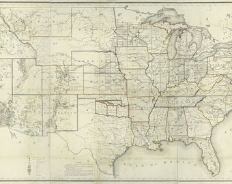 1866 Map of The United States